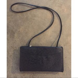 Vintage Ostrich Leather Crossbody